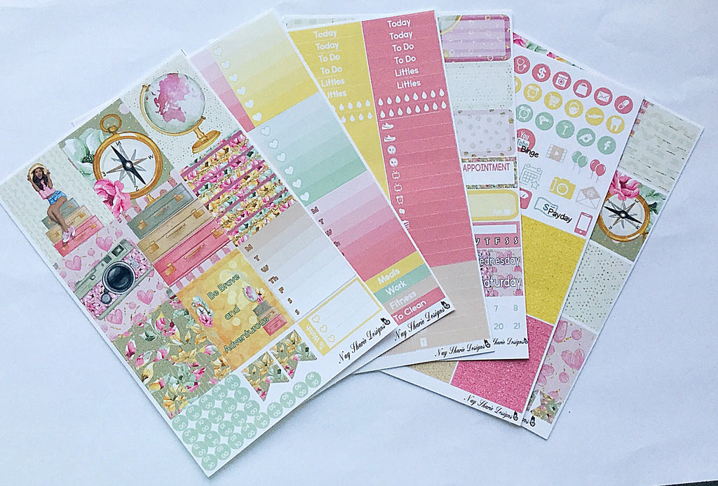 Be Brave Vertical Kit Travel Kit for the Erin Condren, Happy Planner, Recollections