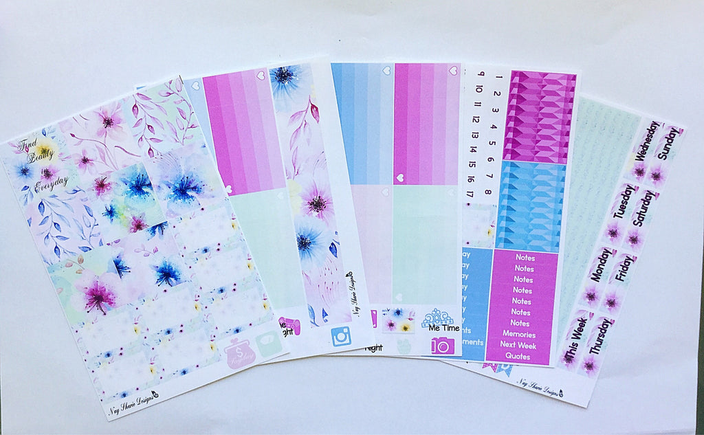 Floral Burst Horizontal Memory Planning Kit for the Horizontal Erin Condren