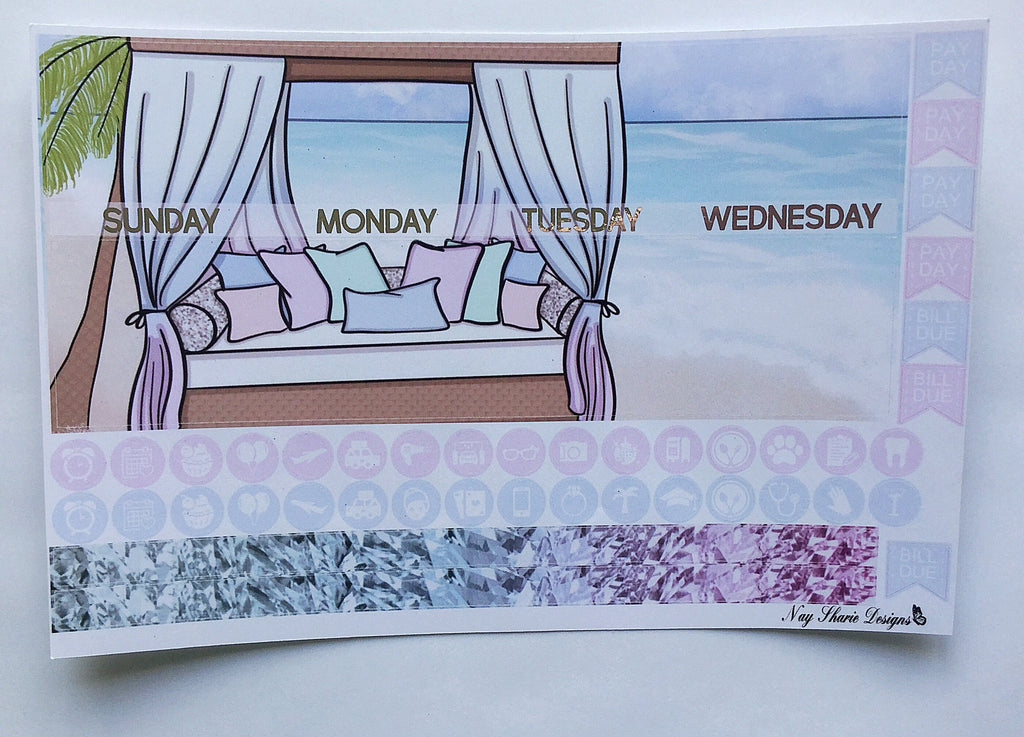 Foiled June Monthly That Beach Life for the Erin Condren