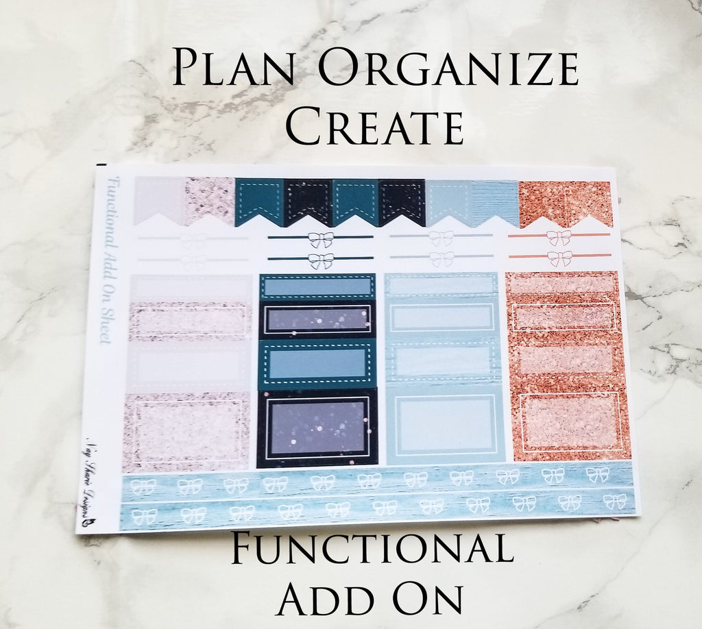 Plan Organize Create Functional Add on