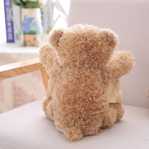 Image of Peek a Boo Plush Teddy Bear Interactive Toy
