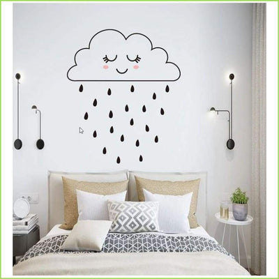Cute Rain Cloud Wall Stickers