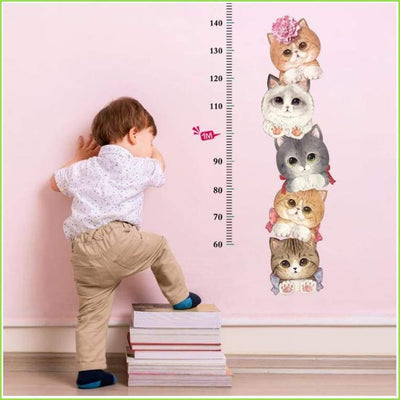 Cats Height Chart Decals - Decals