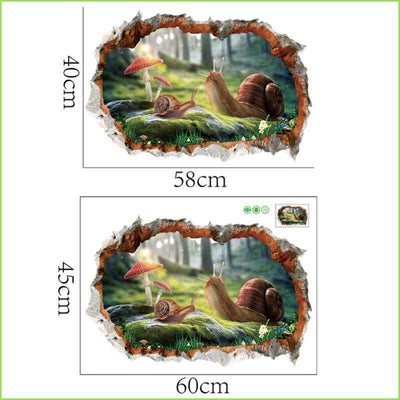 3D Kids Scene Wall Stickers - Decals