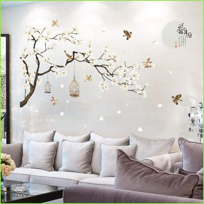 White Blossom Tree Decal