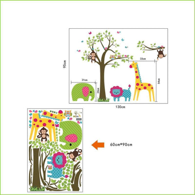 Big 5 Animals Wall Stickers on WallStickersForKids