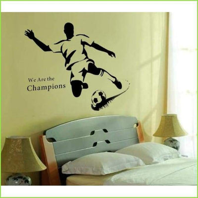 Striker Football Wall Decal on WallStickersForKids
