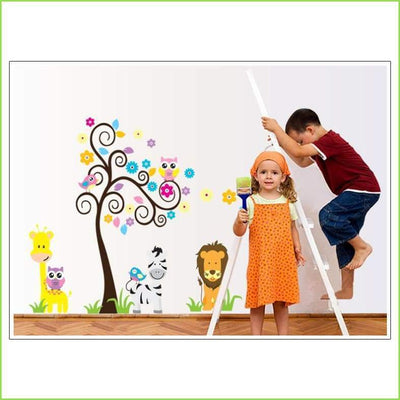 Funky Animal Jungle Decal on WallStickersForKids