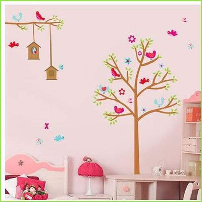 Bird Trees Wall Sticker on WallStickersForKids