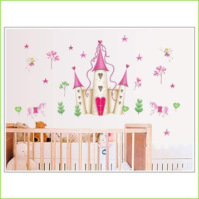 Large Castle Wall Decal on WallStickersForKids