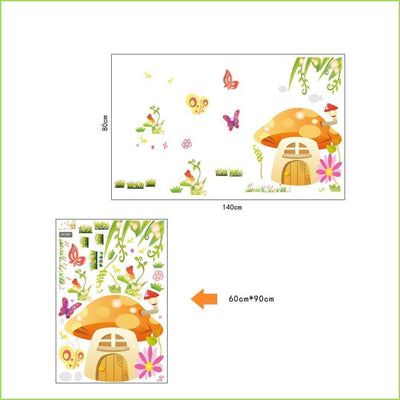 Toadstool Kingdom Wall Stickers on WallStickersForKids