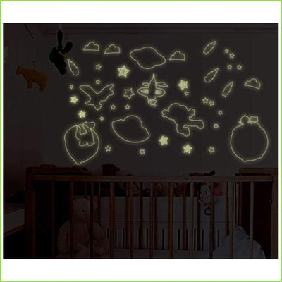 Galaxy Glow in the Dark Stickers on WallStickersForKids