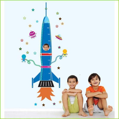 Rocket Height Chart Decal on WallStickersForKids