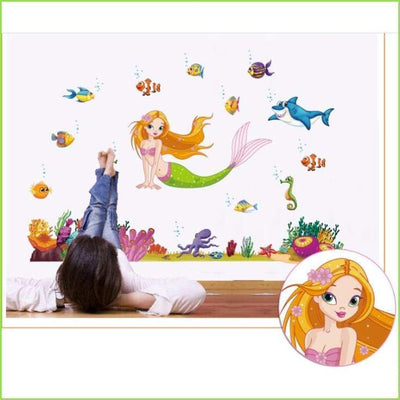Mermaid Wall Art Stickers on WallStickersForKids