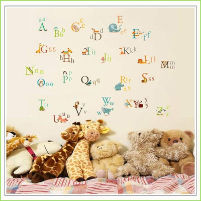 A - Z Animals Wall Sticker on WallStickersForKids
