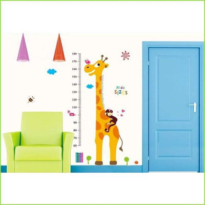 Spotty Giraffe Height Chart Wall Decal on WallStickersForKids