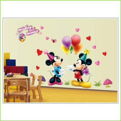 Mickey Mouse & Minnie Mouse Decals on WallStickersForKids