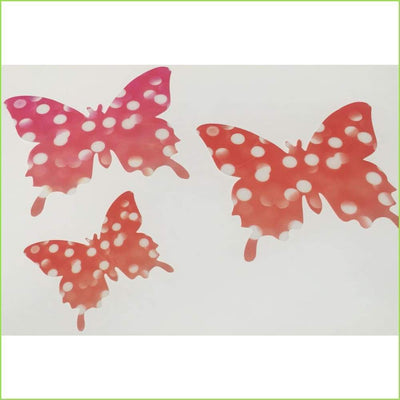 Red Spot 3D Butterfly Stickers on WallStickersForKids