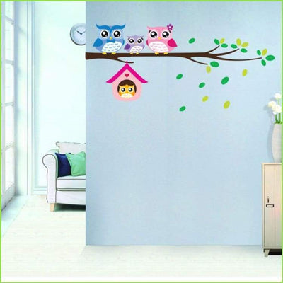Kids Owl Branch Wall Sticker on WallStickersForKids