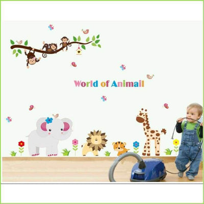 Animal World Wall Art Decal on WallStickersForKids