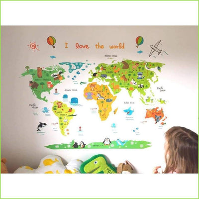 Fun Colour Map Wall Stickers on WallStickersForKids