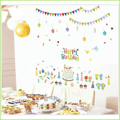 Happy Birthday Wall Stickers on WallStickersForKids