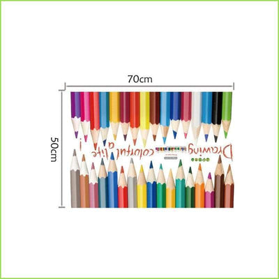 Colour Pencil Skirting Border Decal on WallStickersForKids