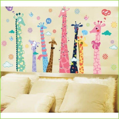 Tall Giraffe Wall Decals on WallStickersForKids