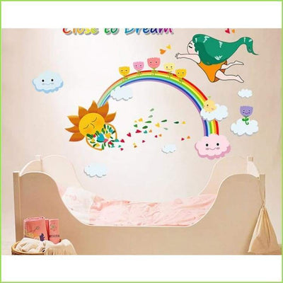 Rainbow Dreams Kids Wall Decal on WallStickersForKids