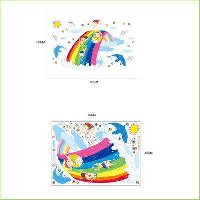 Over the Rainbow Decals on WallStickersForKids