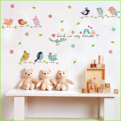 Bird in My House Decals on WallStickersForKids