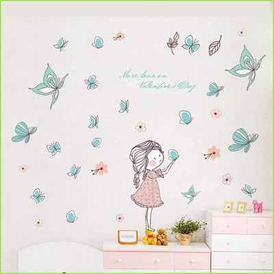 Butterfly Leaves Wall Decal on WallStickersForKids