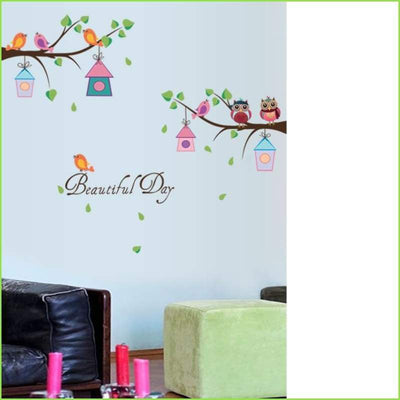 Beautiful Day Owls Decals on WallStickersForKids