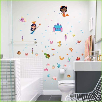 Mermaid Castle Wall Stickers on WallStickersForKids