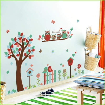Family Owl Tree Wall Stickers on WallStickersForKids