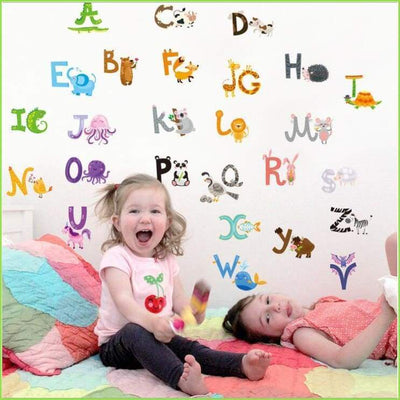 Alphabet Wall Stickers on WallStickersForKids