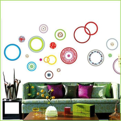 Pattern Circle Wall Stickers on WallStickersForKids