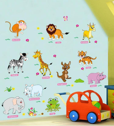 Zoo Animal Wall Stickers on WallStickersForKids