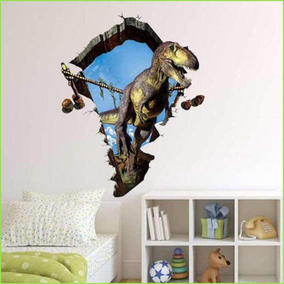 3D Dinosaur Wall Decals on WallStickersForKids