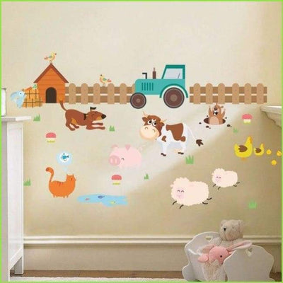 Farm Tractor Wall Stickers on WallStickersForKids
