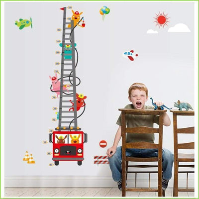 Fire Engine Height Chart on WallStickersForKids