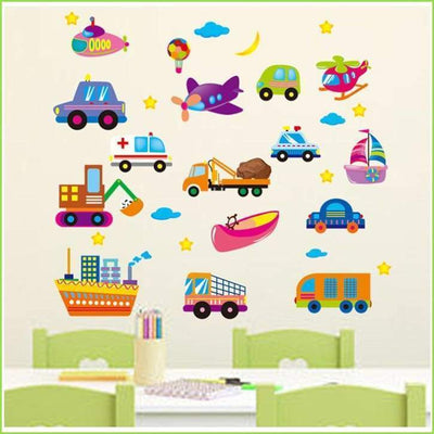 Planes Trains and Automobiles on WallStickersForKids
