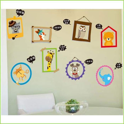 Kids Cute Animal Frames on WallStickersForKids