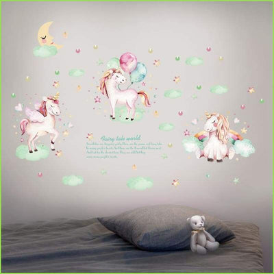Moonlight Unicorns on WallStickersForKids