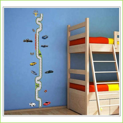 Race Track Height Chart Decal on WallStickersForKids