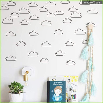 Cloud Wall Sticker Decals on WallStickersForKids