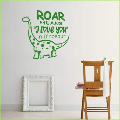DinoRoar Wall Sticker on WallStickersForKids