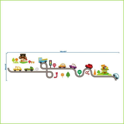Kids Transport Fun Track Decal on WallStickersForKids