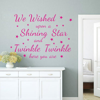 Wish Upon A Star Wall Sticker on WallStickersForKids