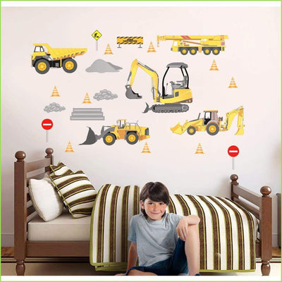 Wsfk Construction Wall Sticker - Stickers